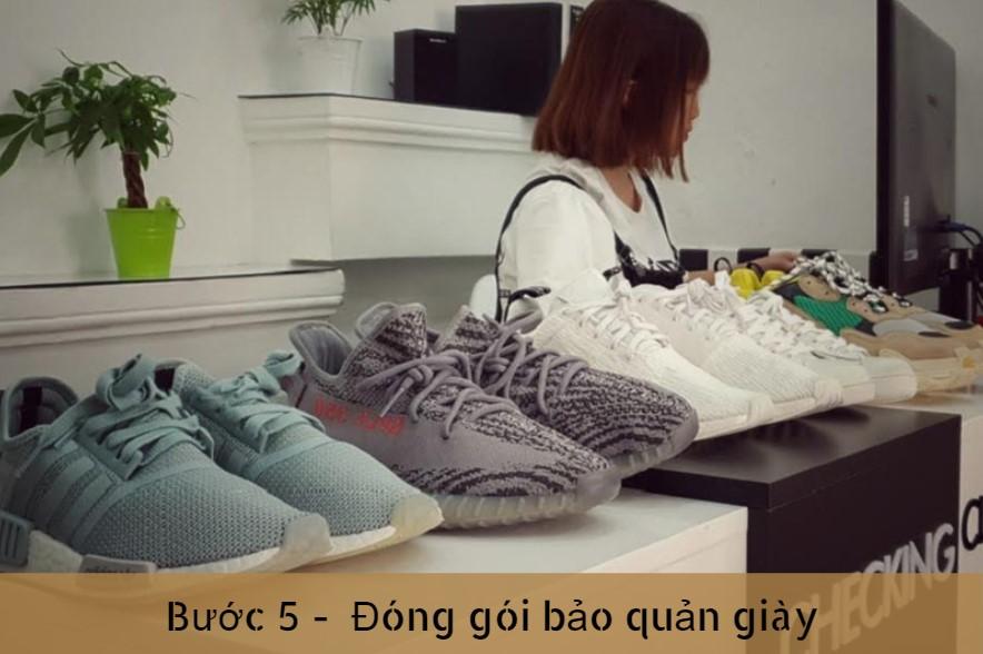 Bước 5 vệ sinh giày tại X-clean