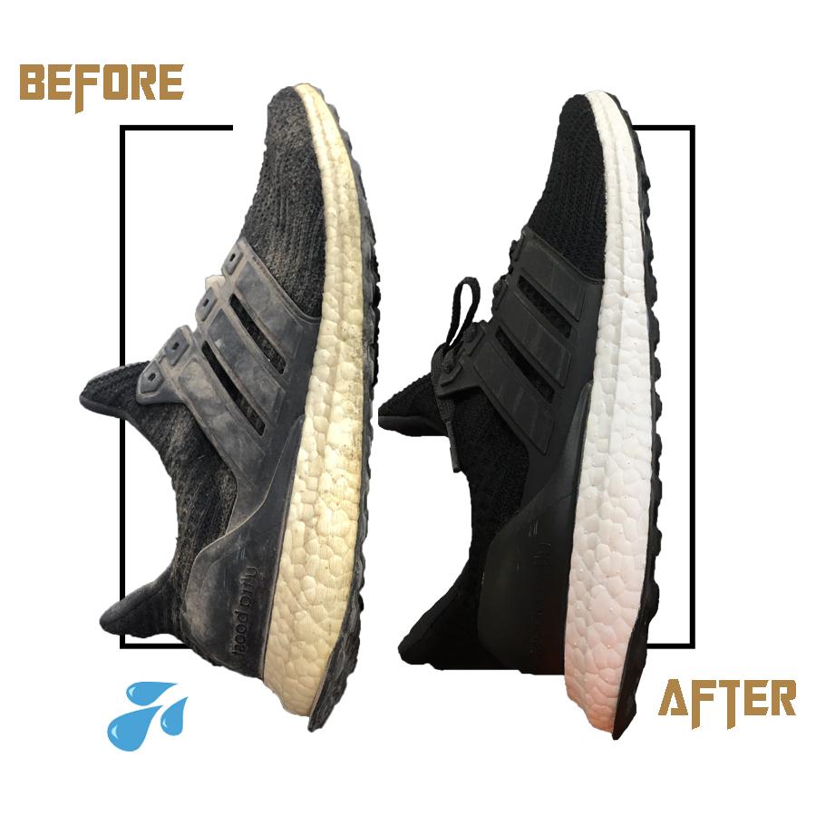 tẩy ố thân và đế giày