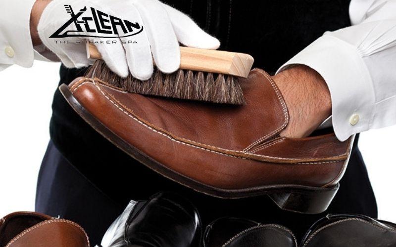 Vệ sinh giày da nam sạch sẽ xclean